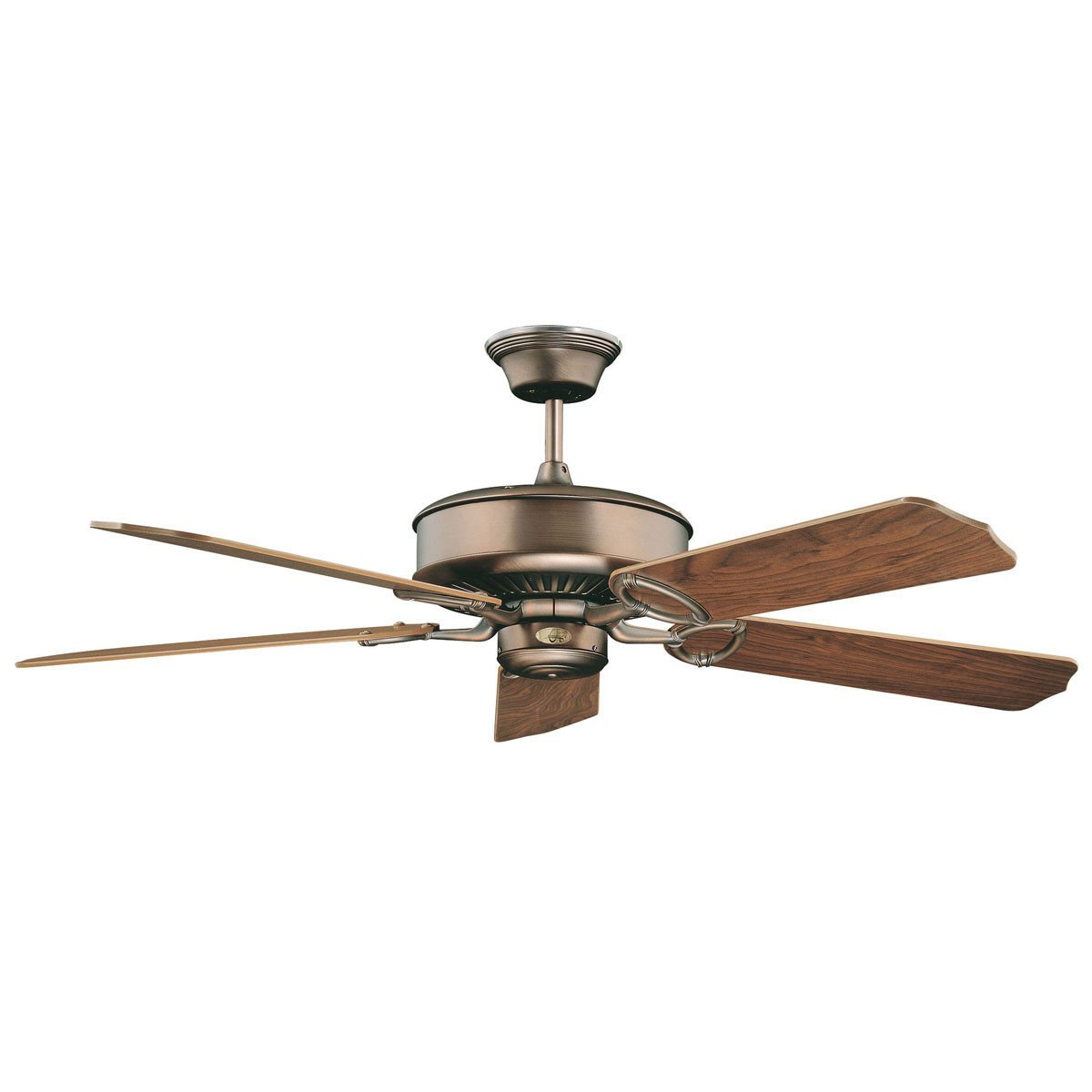 "Concord Fans 52"" Madison Energy Saver Oil Brushed Brass Modern Ceiling Fan"