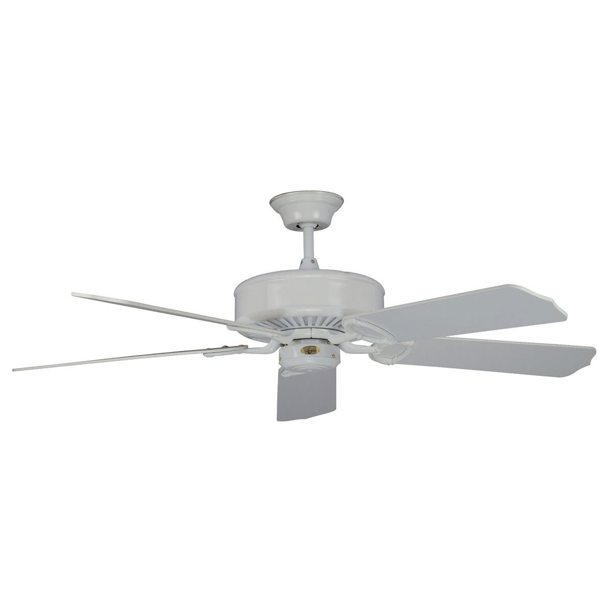 "Concord Fans 52"" Madison Energy Saver White Modern Ceiling Fan"