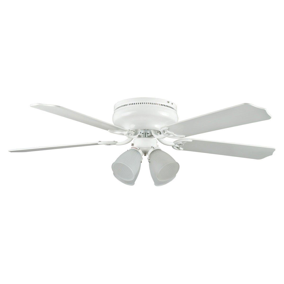 "Concord Fans 52"" Motego Bay White Hugger Ceiling Fan with 4 Light Kit"