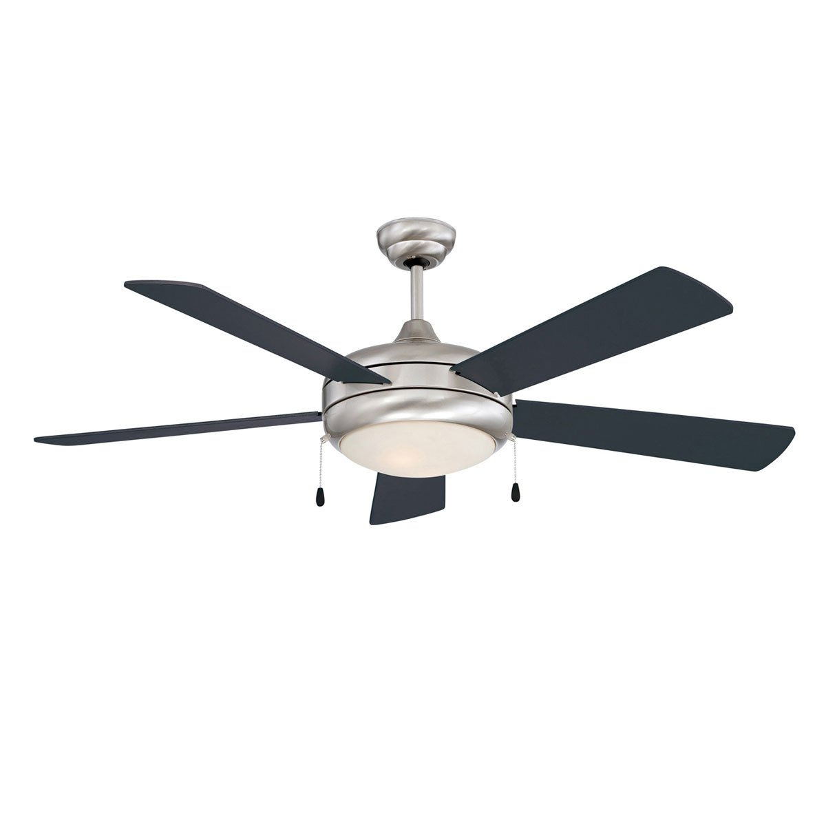 "Concord Fans 52"" Saturn-Ex Stainless Steel Modern Ceiling Fan with Light"