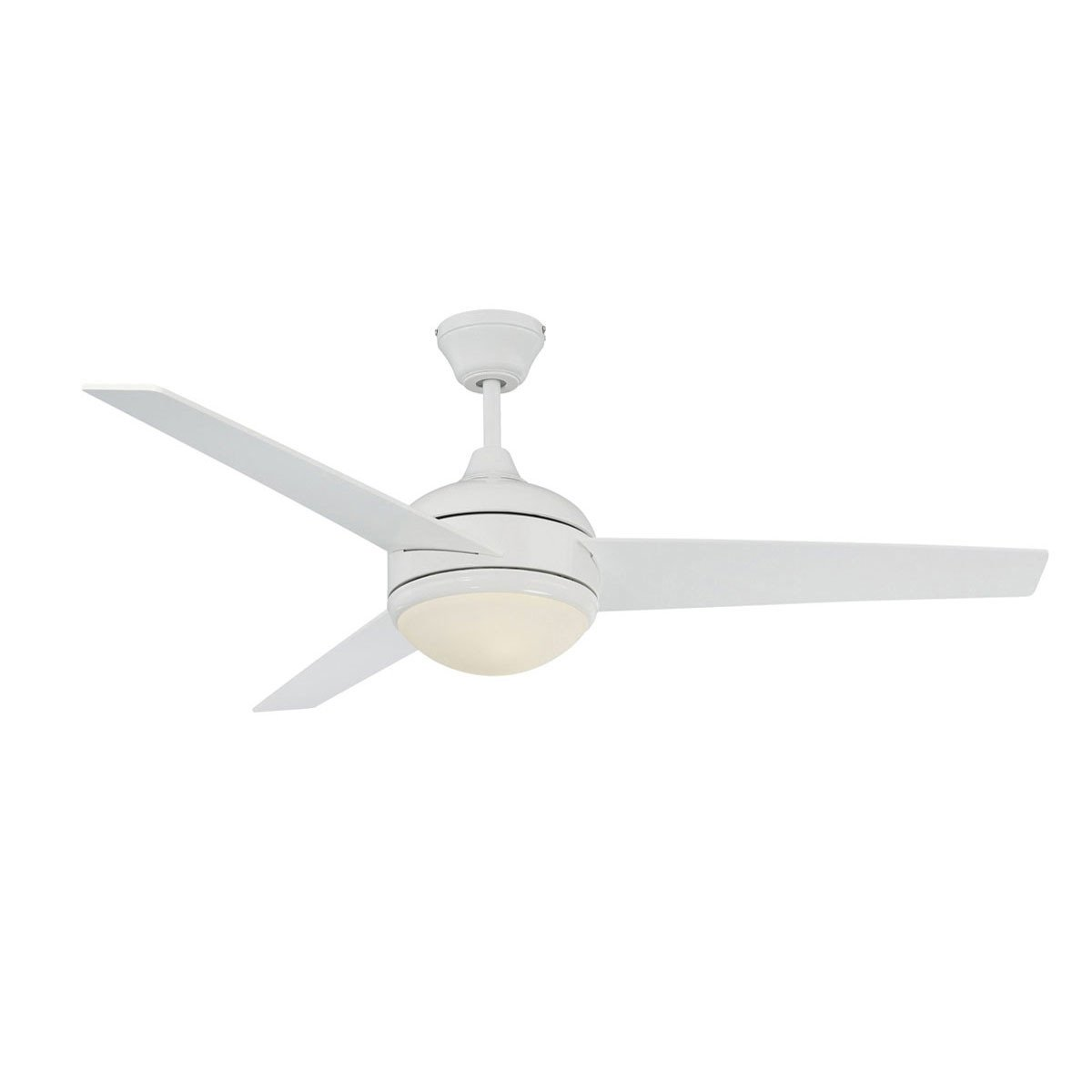 "Concord Fans 52"" Skylark Modern White Ceiling Fan with Light and Remote"