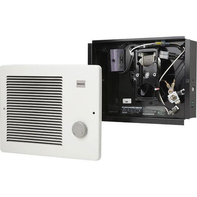 Broan 174 white small electric wall mounted heater with - Bathroom exhaust fan with thermostat ...