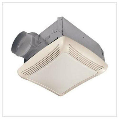 Nutone 769RL Ceiling Mount 70 CFM Exhaust Bathroom Ventilation Fan with Light