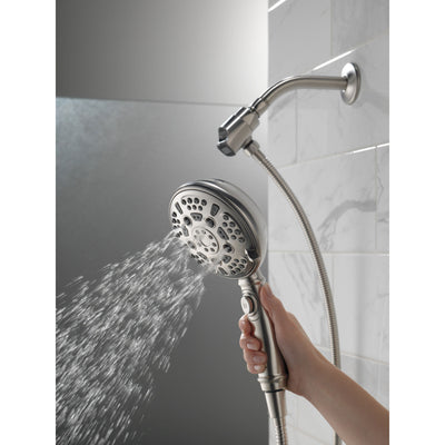 Delta Stainless Steel Finish SureDock 7-Setting Shower Arm Mount Hand Sprayer D54710SSPK