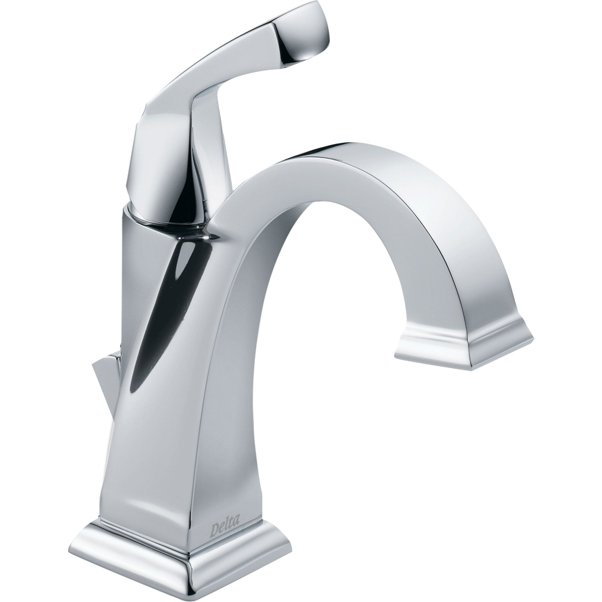 Delta Dryden Chrome Finish Single-Hole 1-Handle Modern Bathroom Faucet 495407