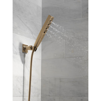 Delta Champagne Bronze Finish H2Okinetic 4-Setting Wall Mount Hand Shower with Hose D55140CZ