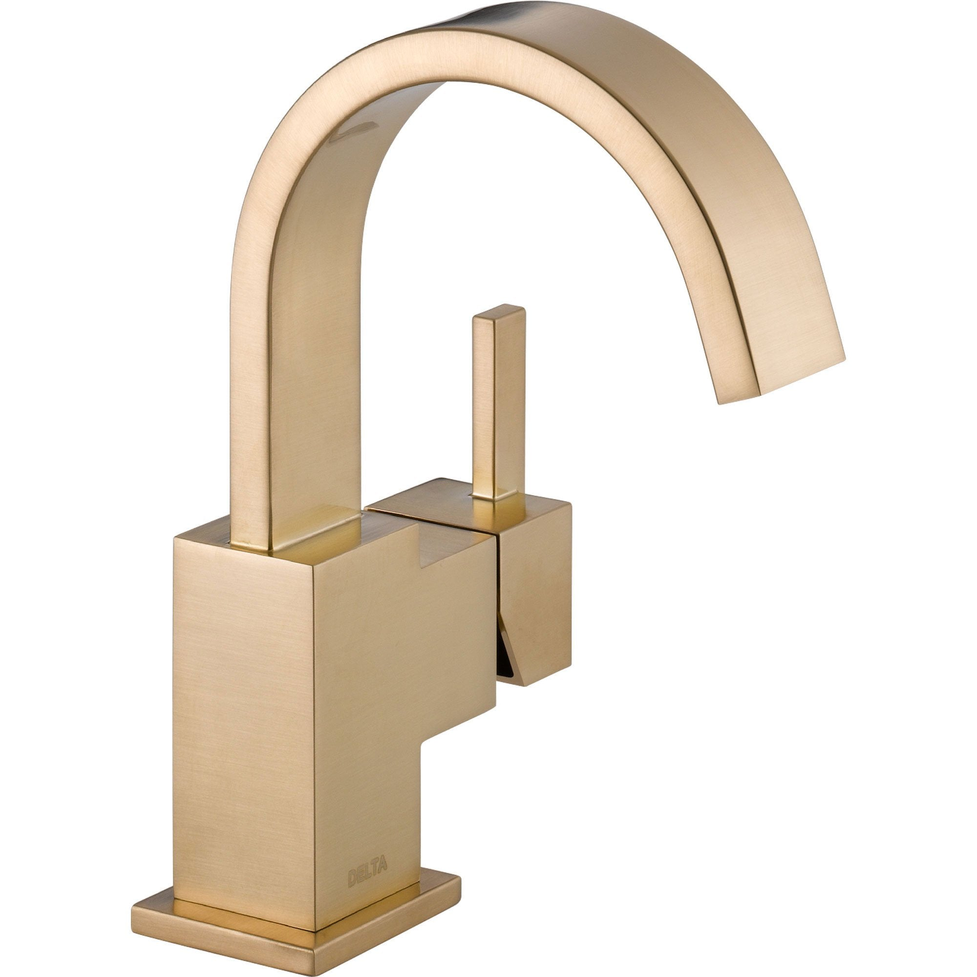 Delta Vero Single Handle Modern Champagne Bronze High Arc Bathroom Faucet 555962