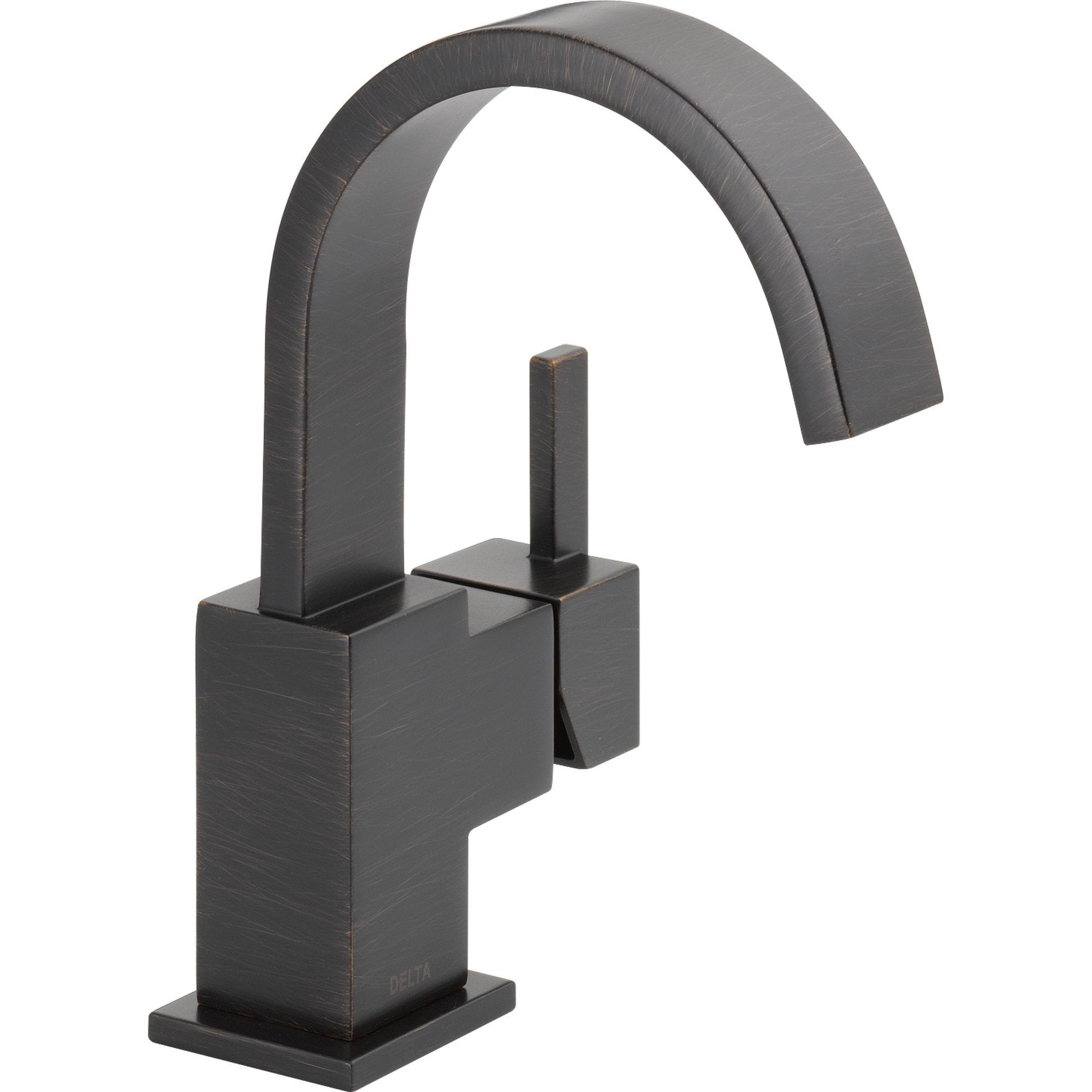 Delta Vero Single Handle Modern Venetian Bronze High Arc Bathroom Faucet 555976