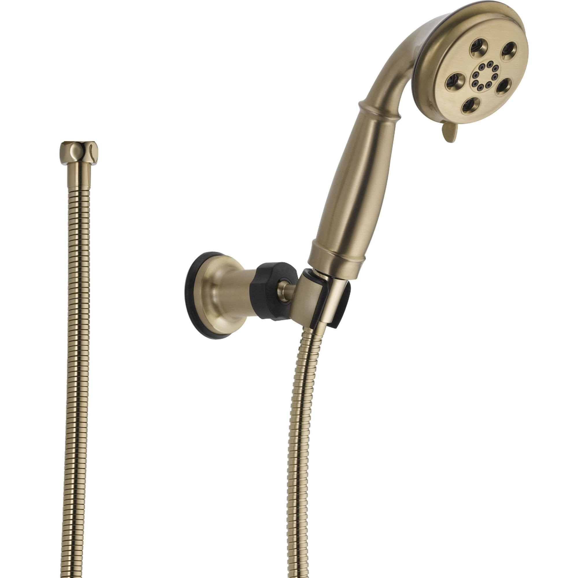 Delta Champagne Bronze Wall Mount Handshower Spray featuring H2Okinetic 604279