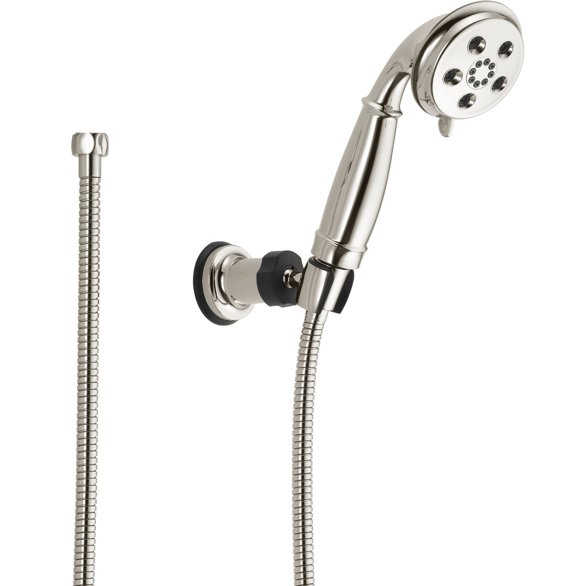 Delta Polished Nickel Wall Mount Handshower Spray featuring H2Okinetic 604280
