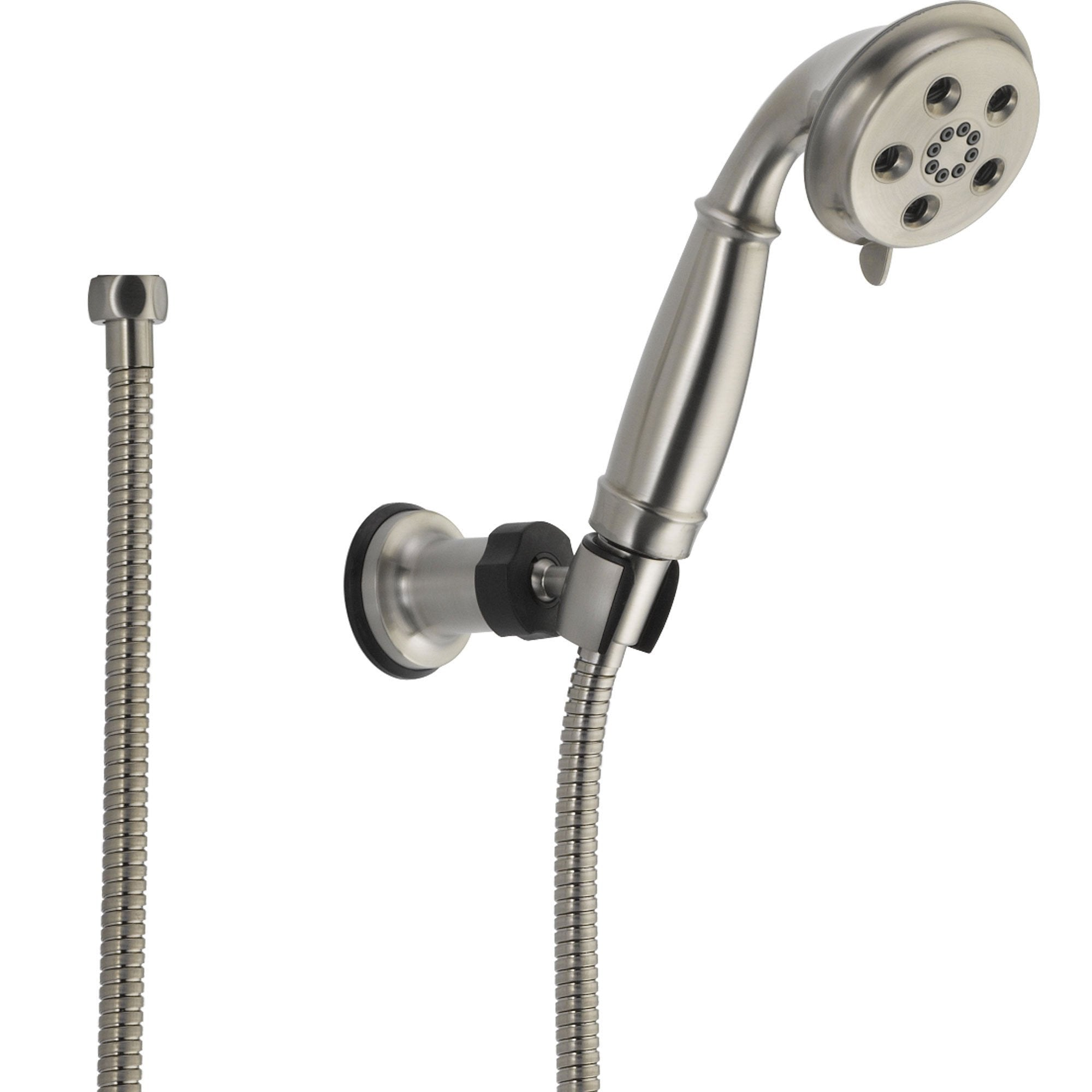 Delta Stainless Steel Finish Wall Mount Handshower Spray with H2Okinetic 604282
