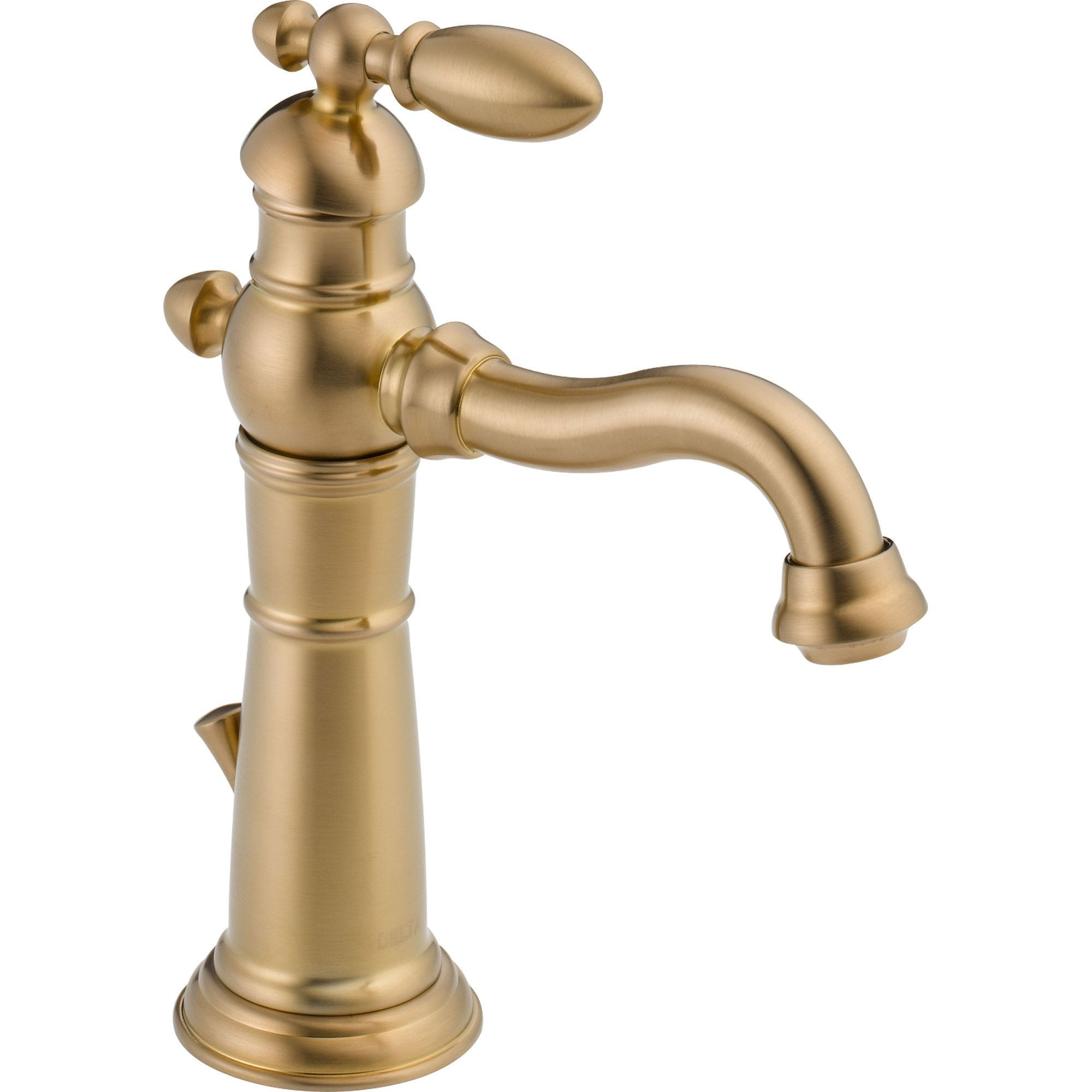 Delta Victorian Champagne Bronze Single Hole 1-Handle Bathroom Faucet 555979