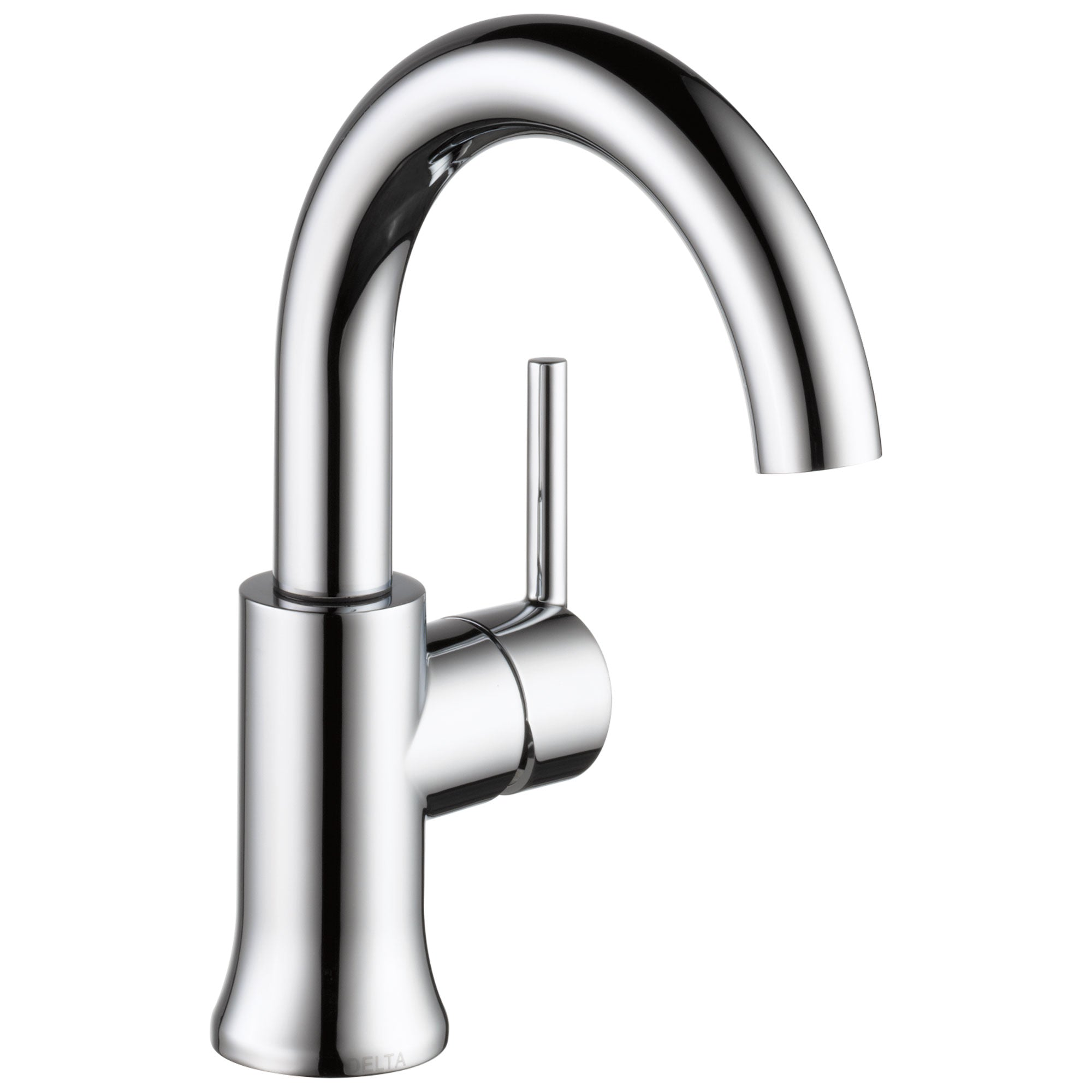Delta Trinsic Collection Chrome Finish Single Handle Modern High-Arc Spout Lavatory Bathroom Sink Faucet with Metal Pop-up Drain D559HADST