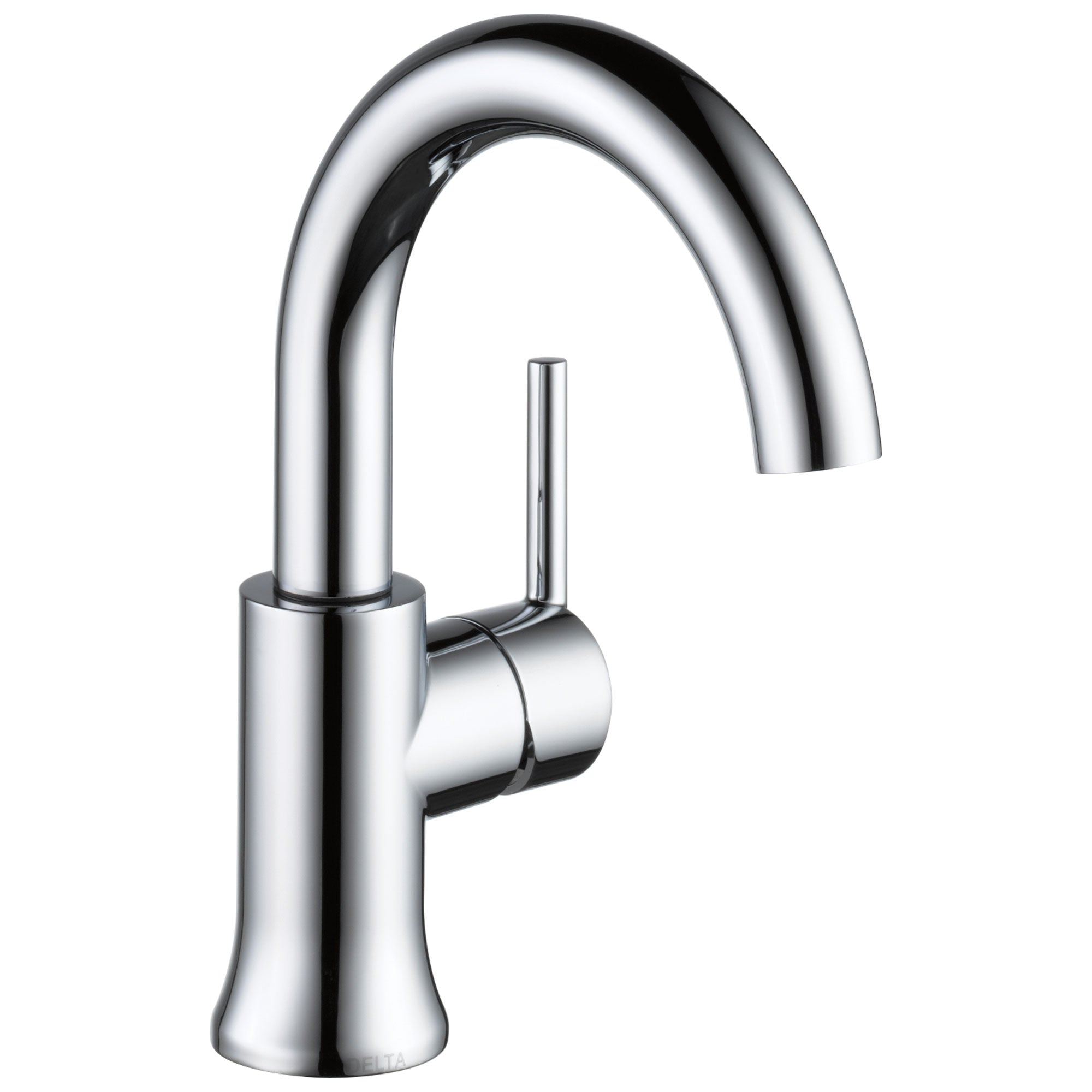 Delta Trinsic Collection Chrome Finish Single Handle Modern High-Arc Spout Lavatory Bathroom Sink Faucet with Metal Pop-up Drain D559HAGPMDST