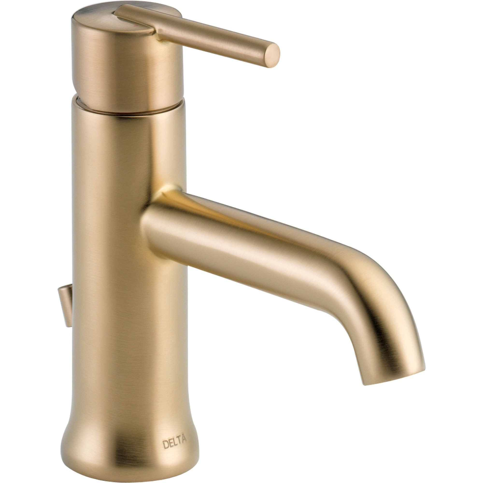 Delta Trinsic Modern Single Handle Champagne Bronze Bathroom Faucet 590139