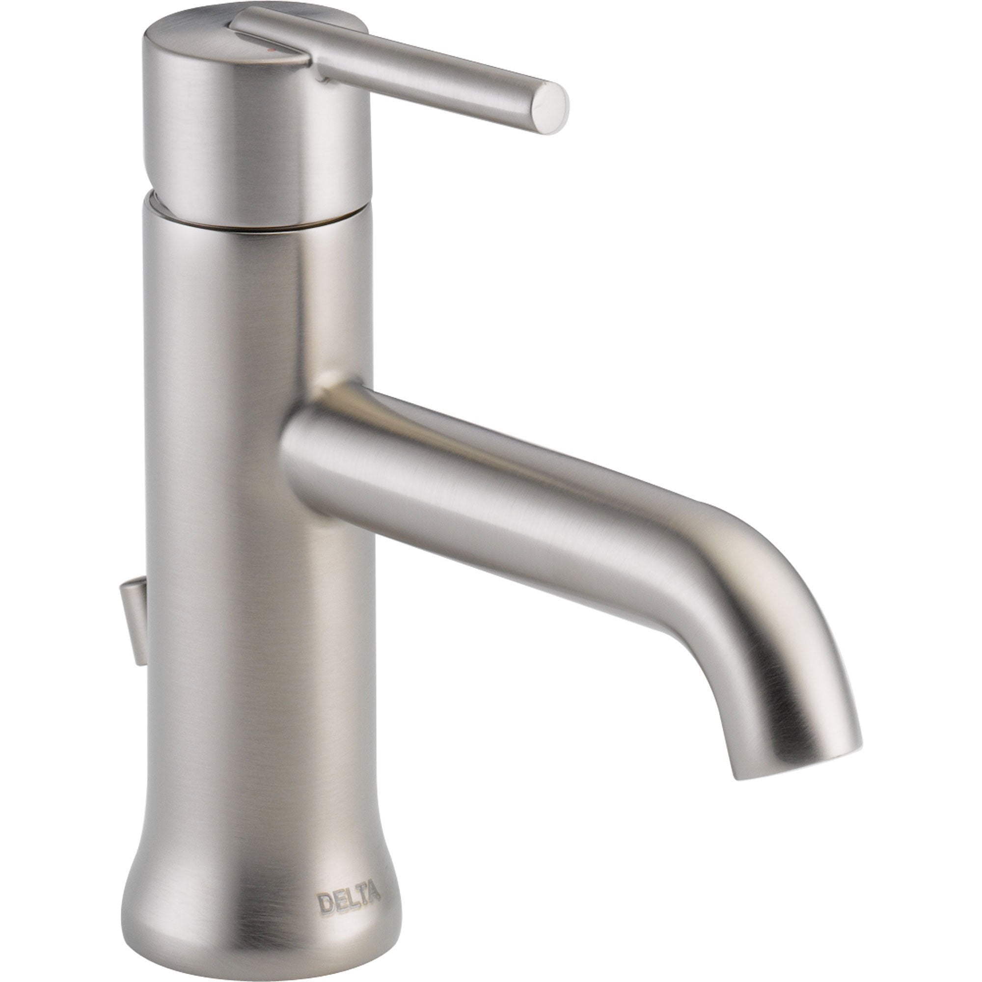 Delta Trinsic Modern Single Handle Stainless Steel Finish Bathroom Faucet 590138