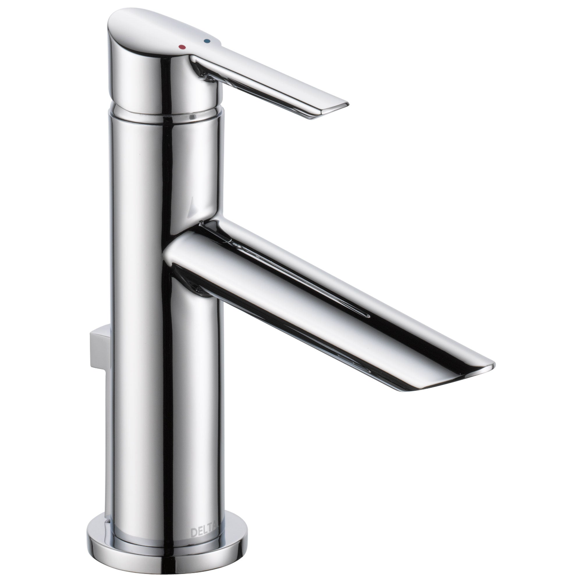 Delta Compel Collection Chrome Finish Single Handle Water Efficient Modern Bathroom Sink Lavatory Faucet with Metal Pop-up Drain D561GPMDST