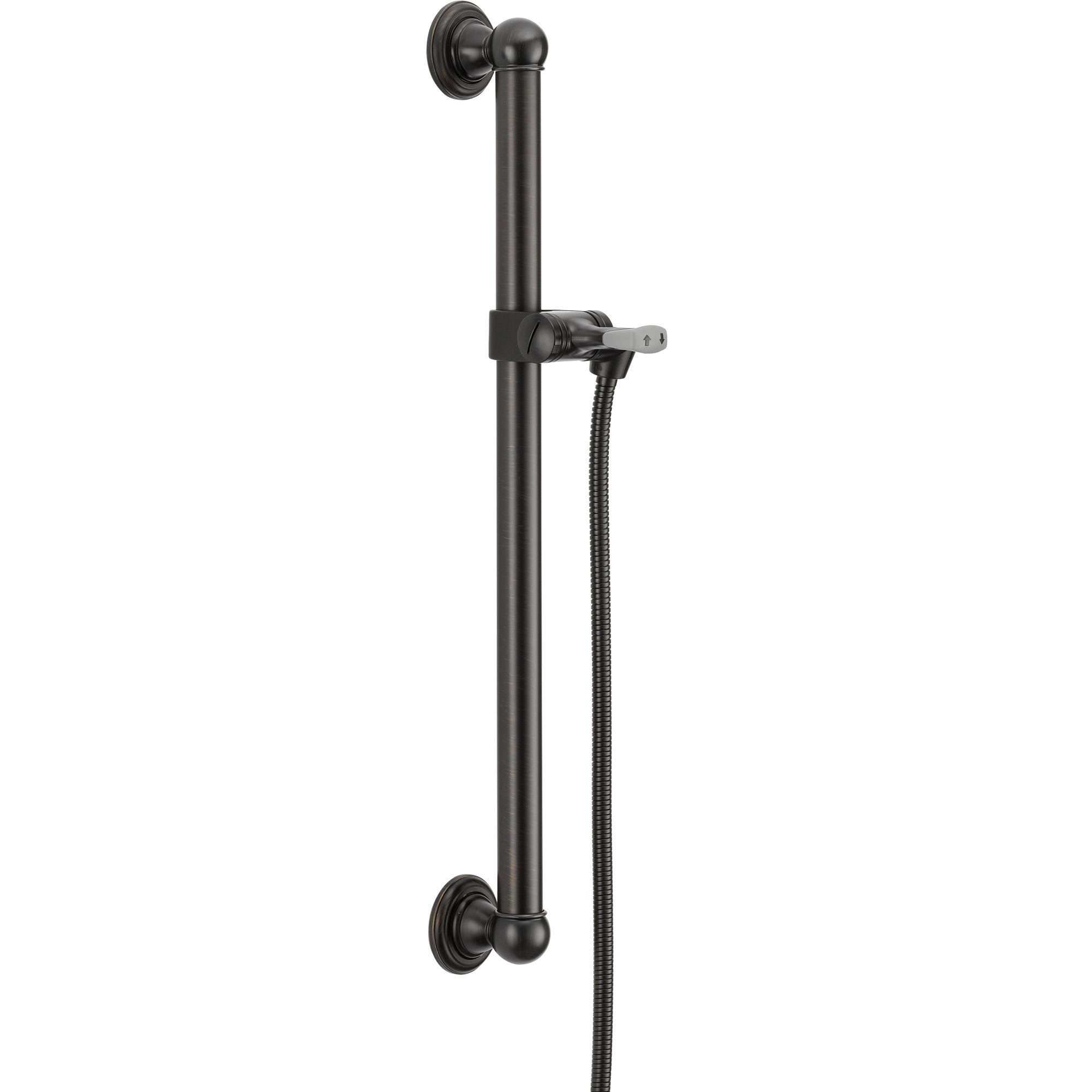 "Delta 24"" Venetian Bronze Grab Bar Adjustable Hand Shower Holder Assembly 561206"