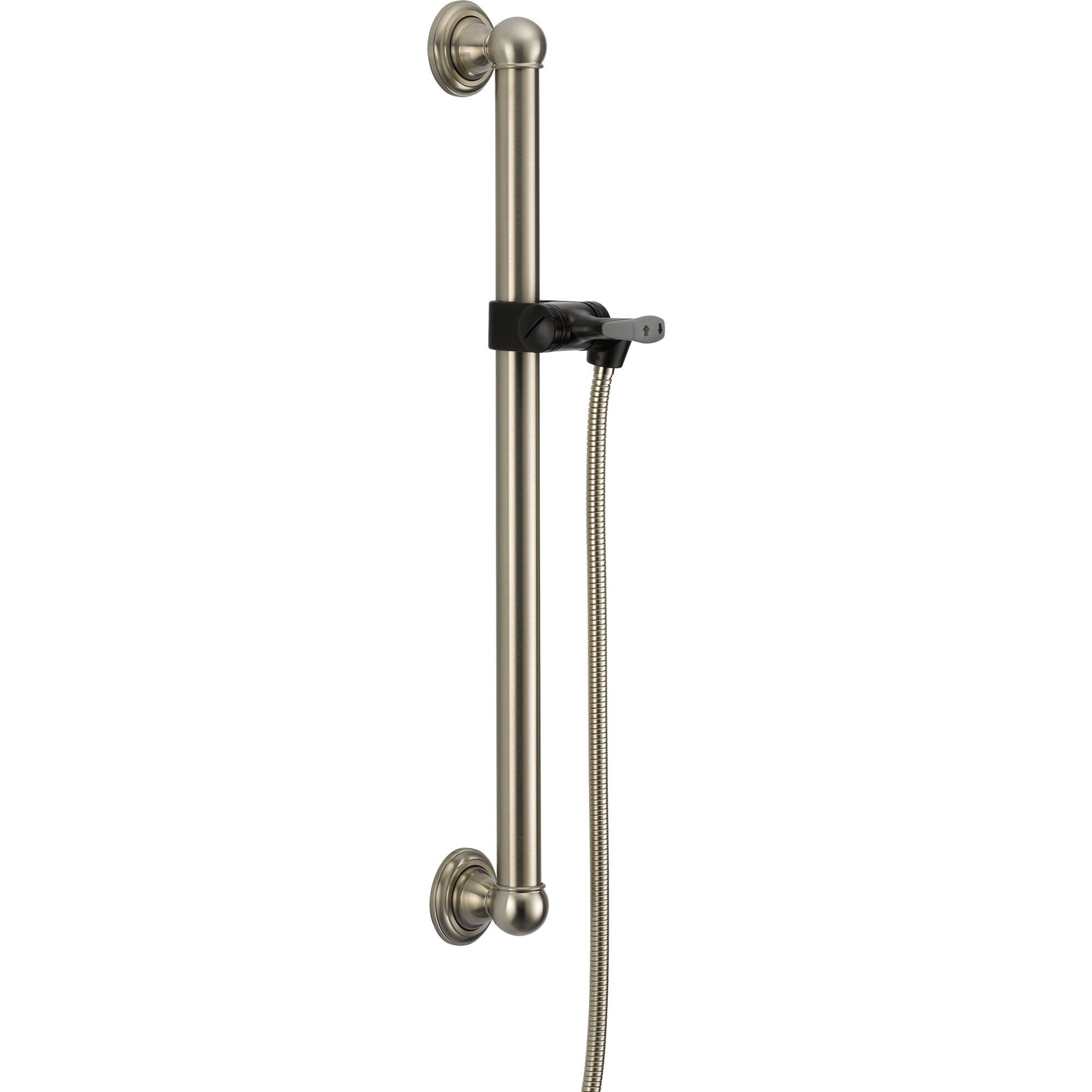 "Delta 24"" Stainless Steel Finish Grab Bar Adjustable Hand Shower Holder 561207"