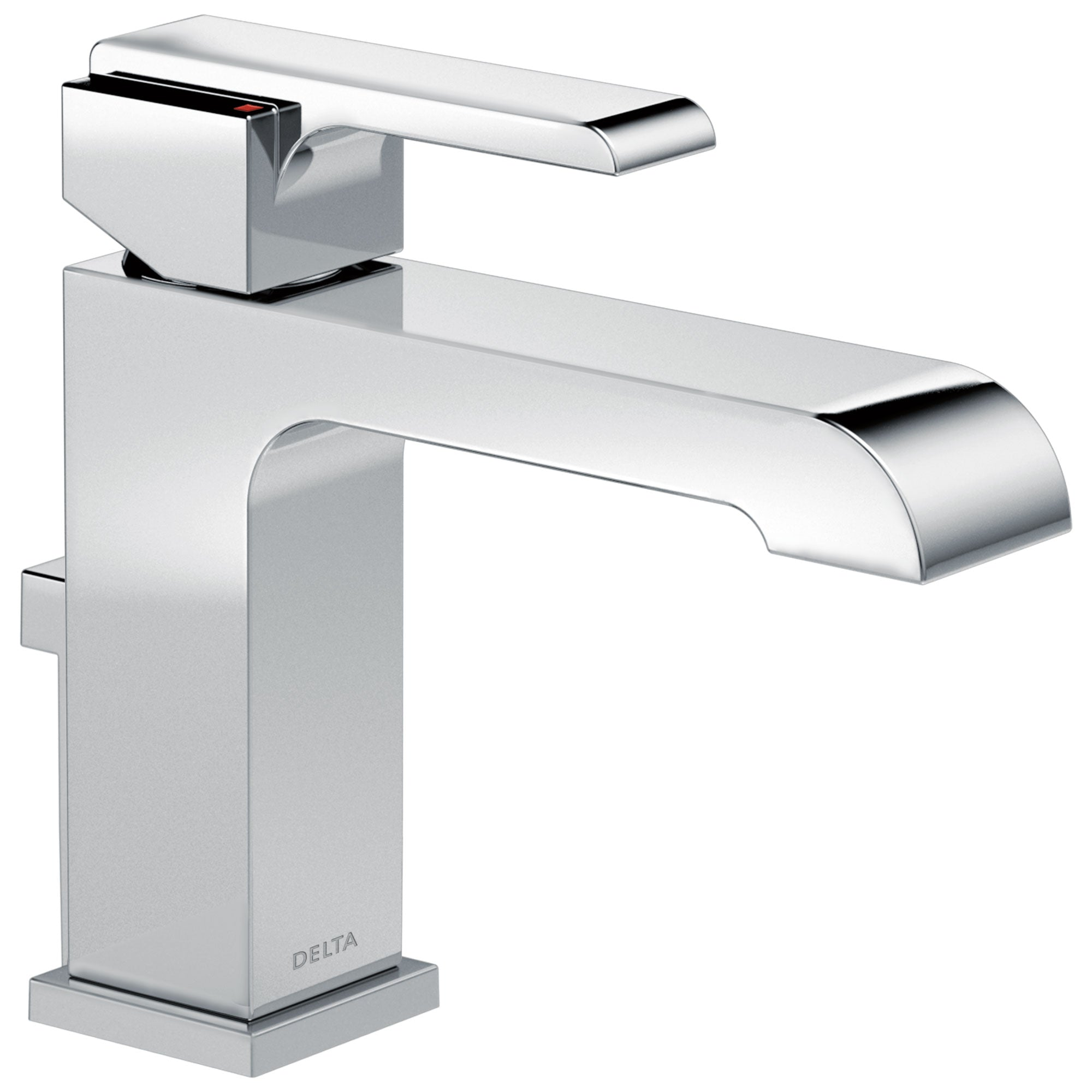 Delta Ara Collection Chrome Finish Single Handle Water Efficient Lavatory Bathroom Sink Faucet with Metal Pop-Up Drain D567LFHGMMPU