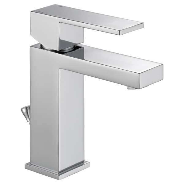Delta Ara Modern Angular Single Handle Project-Pack Bathroom Faucet with Metal Pop-Up Drain