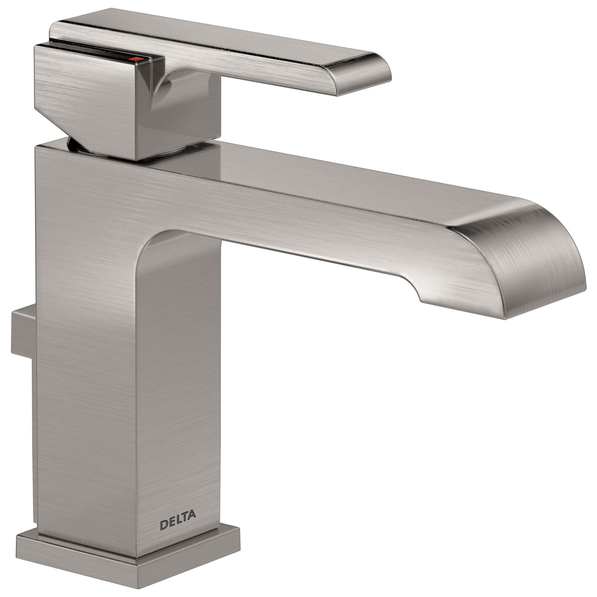 Delta Ara Collection Stainless Steel Finish Single Handle Bathroom Lavatory Sink Faucet with Metal Pop-Up Drain D567LFSSMPU