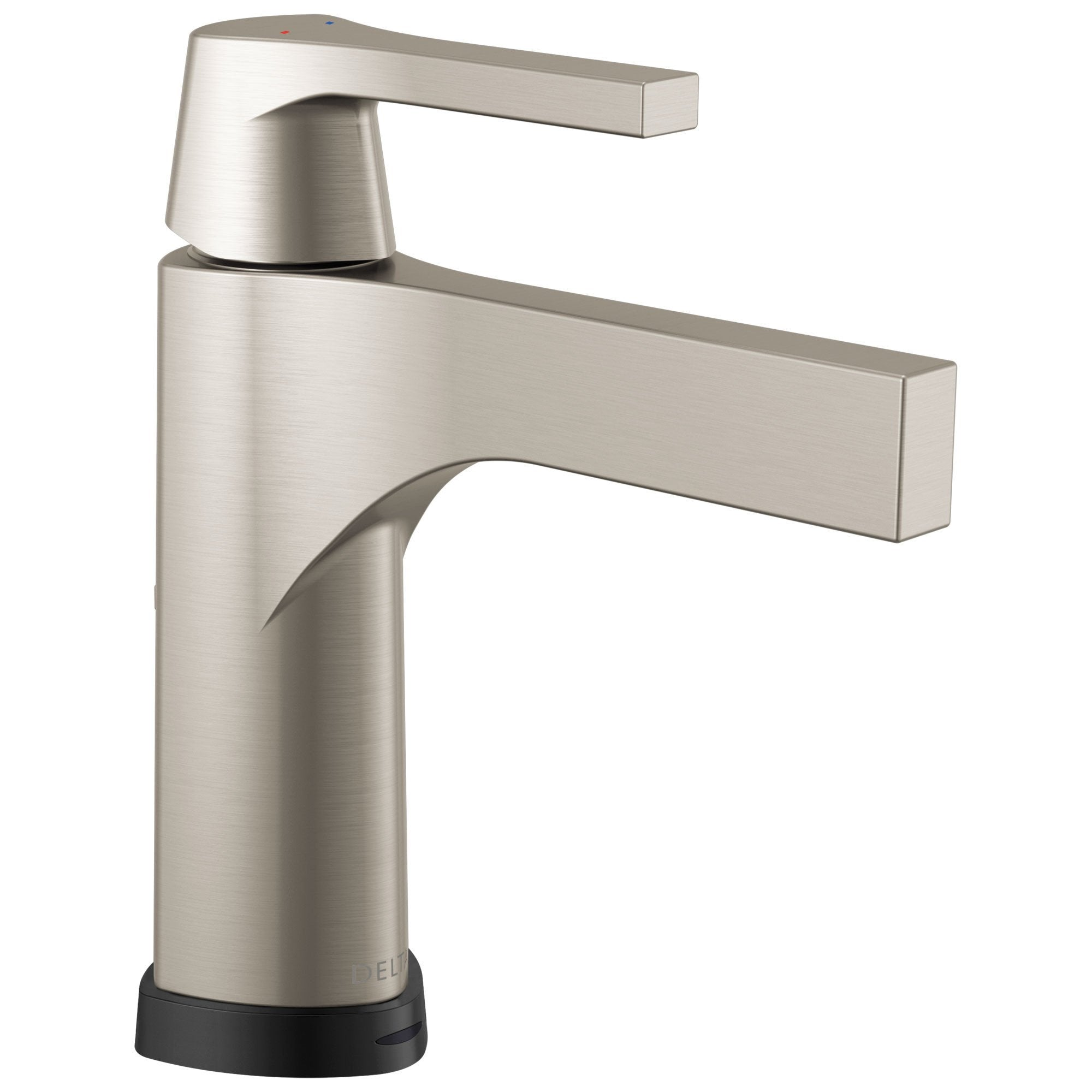 Delta Zura Collection Stainless Steel Finish Modern Single Handle Electronic Centerset Lavatory Bathroom Sink Faucet with Touch2Oxt Technology 743898