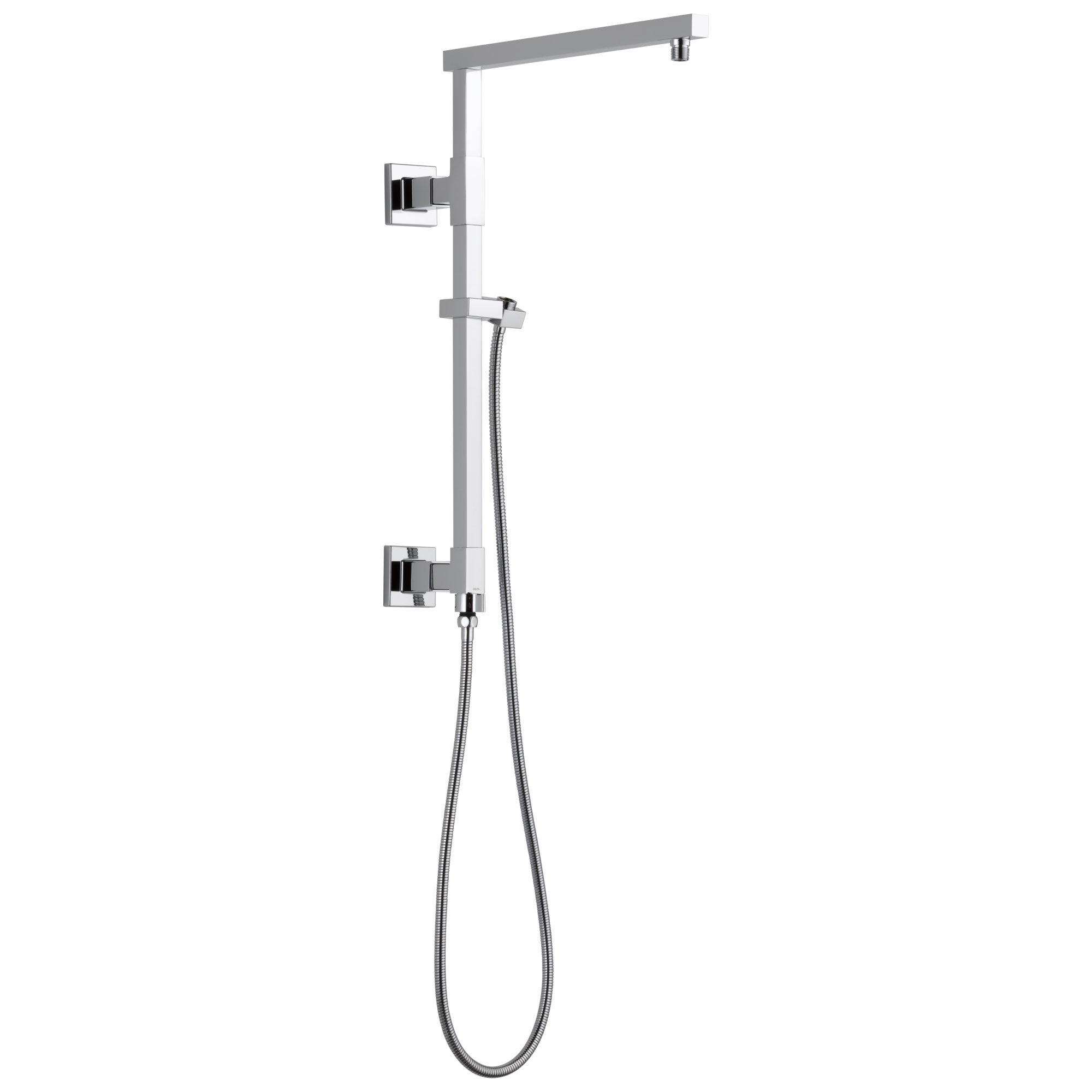 "Delta Chrome Finish Emerge Modern Angular Square Shower Column 18"" (Requires Showerhead, Hand Spray, and Control) D58410"