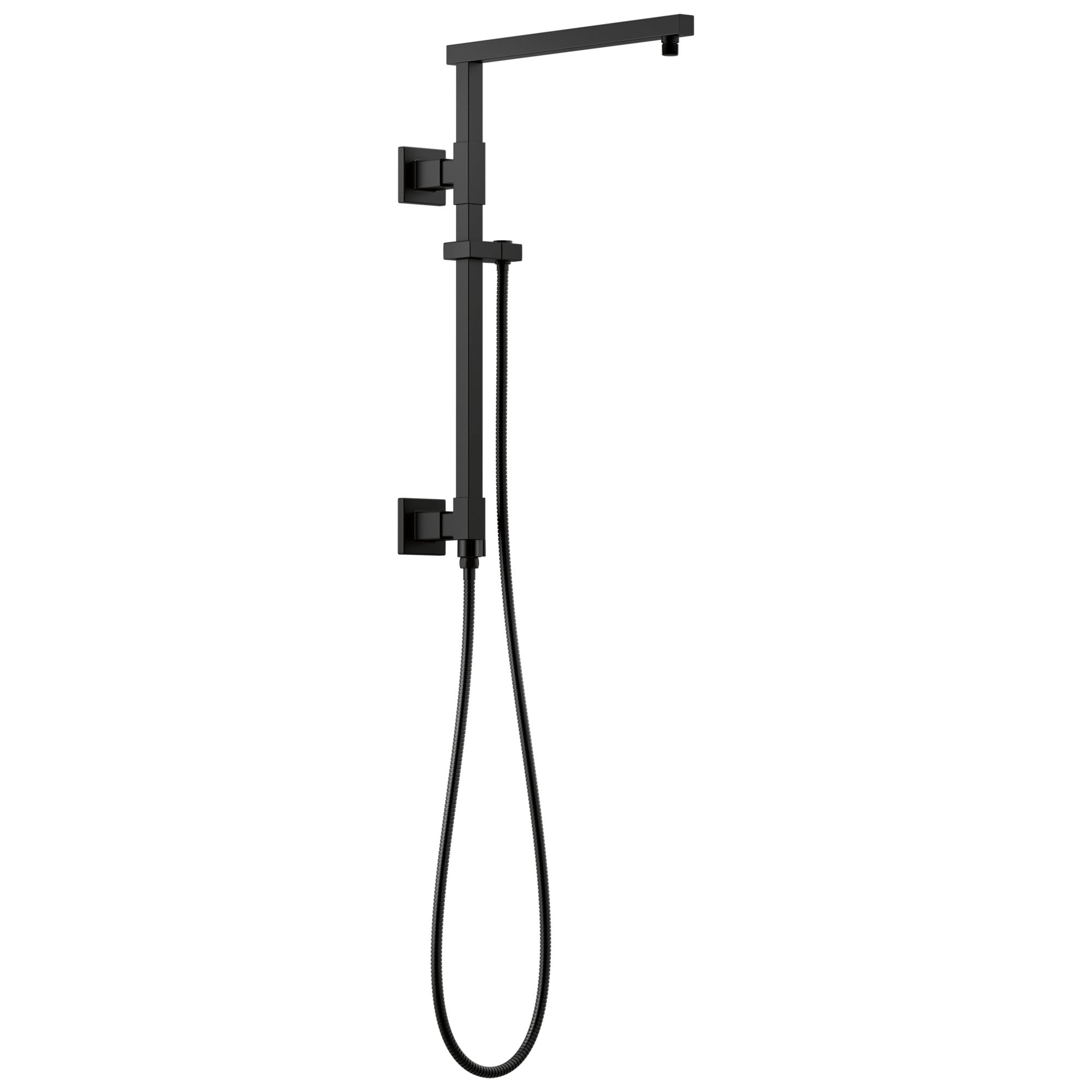 "Delta Matte Black Finish Emerge Modern Angular Square Shower Column 18"" (Requires Showerhead, Hand Spray, and Control) D58410BL"