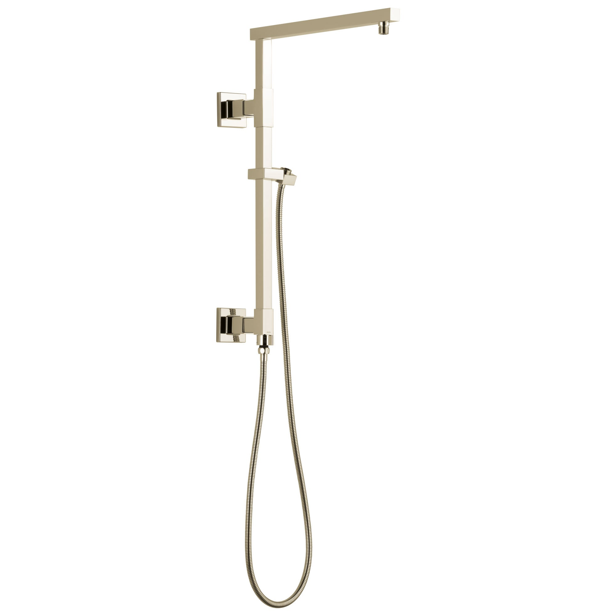 "Delta Polished Nickel Finish Emerge Modern Angular Square Shower Column 18"" (Requires Showerhead, Hand Spray, and Control) D58410PN"