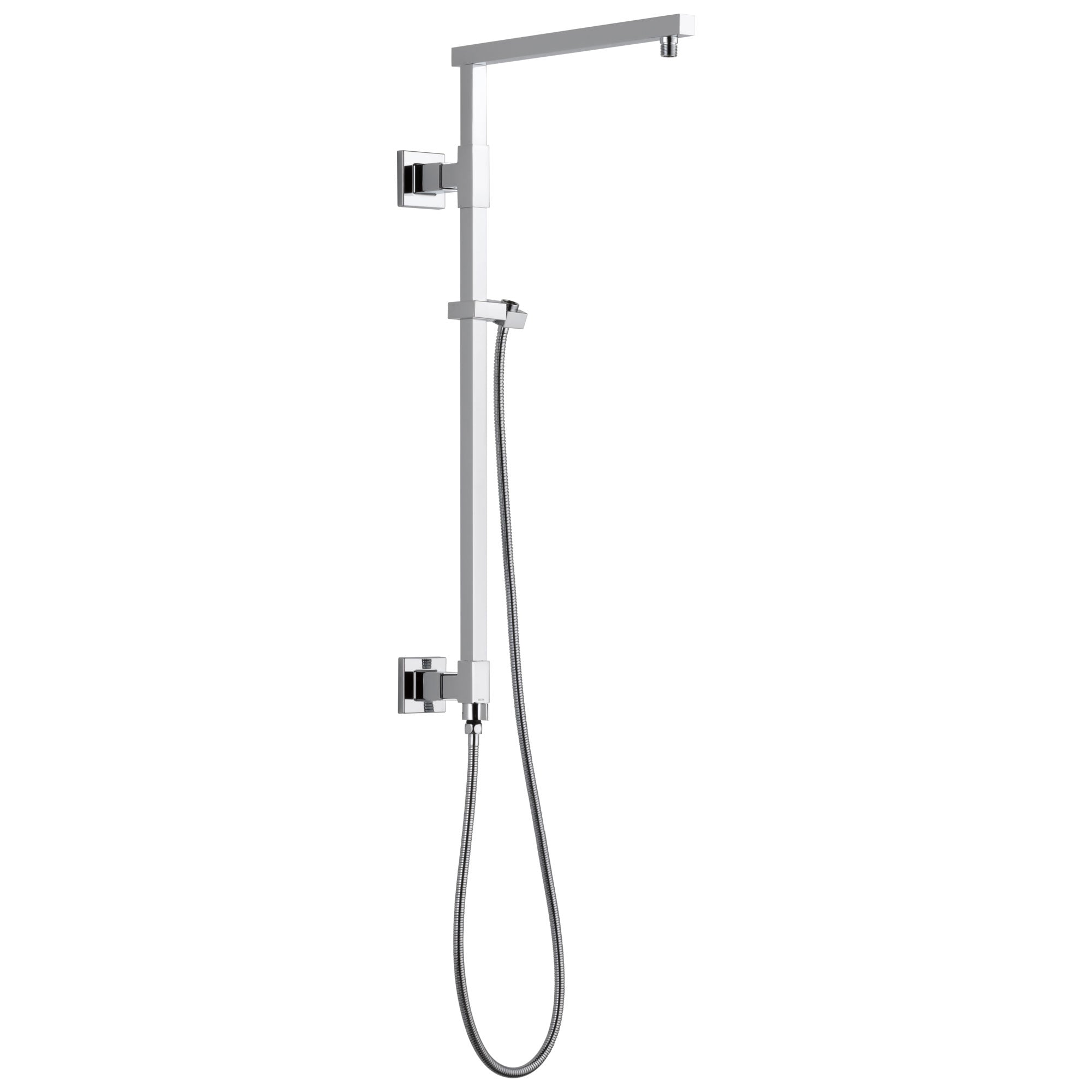 "Delta Chrome Finish Emerge Modern Angular Square Shower Column 26"" (Requires Showerhead, Hand Spray, and Control) D58420"