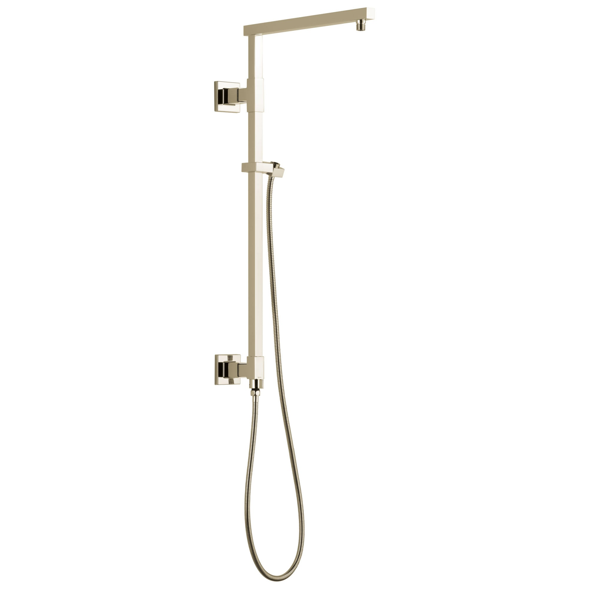 "Delta Polished Nickel Finish Emerge Modern Angular Square Shower Column 26"" (Requires Showerhead, Hand Spray, and Control) D58420PN"