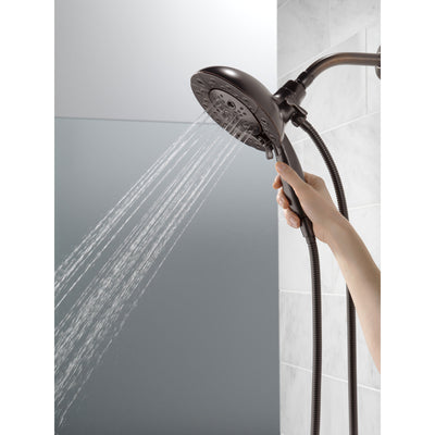 Delta Venetian Bronze Finish H2Okinetic In2ition 5-Setting Two-in-One Showerhead and Handheld Sprayer D58480RB25PK
