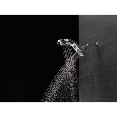 Delta Chrome Finish HydroRain 5-Setting Two-in-One Shower Head D5858025PK