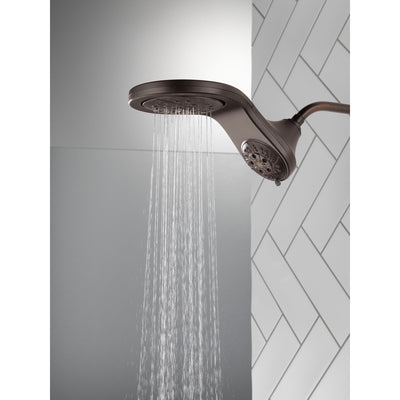 Delta Venetian Bronze Finish HydroRain H2Okinetic 5-Setting Two-in-One Shower Head D58581RB25PK