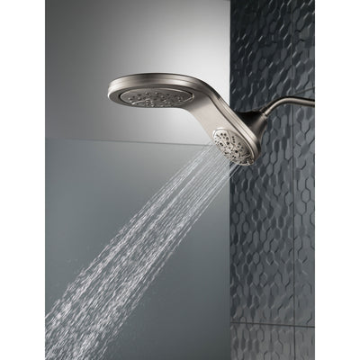 Delta Stainless Steel Finish HydroRain H2Okinetic 5-Setting Two-in-One Shower Head D58581SS25PK