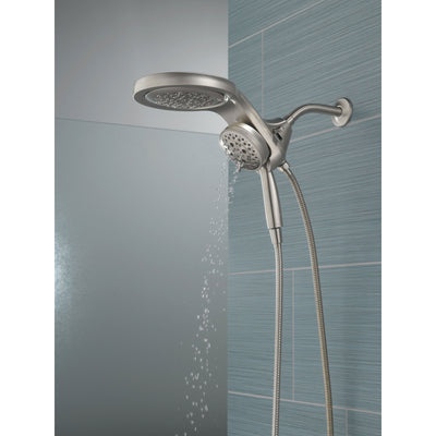 Delta Stainless Steel Finish HydroRain H2Okinetic 5-Setting Two-in-One Shower Head and Hand Spray D58680SS25