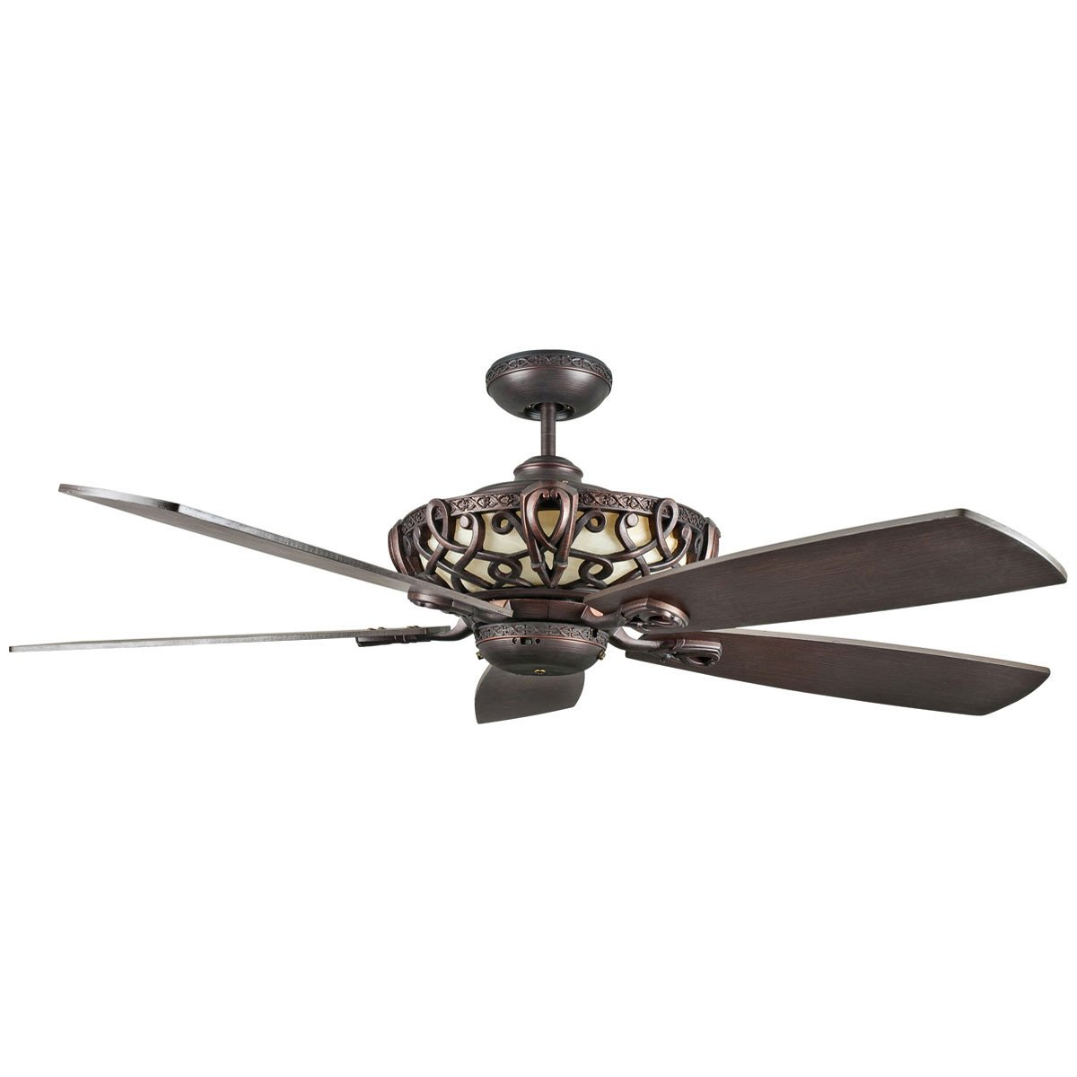 "Concord Fans 60"" Aracruz Oil Rubbed Bronze Large Ceiling Fan with Up-Light"