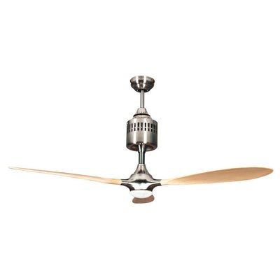 "Concord Fans 60"" Pilot Modern Stainless Steel Ceiling Fan with Light & Remote"