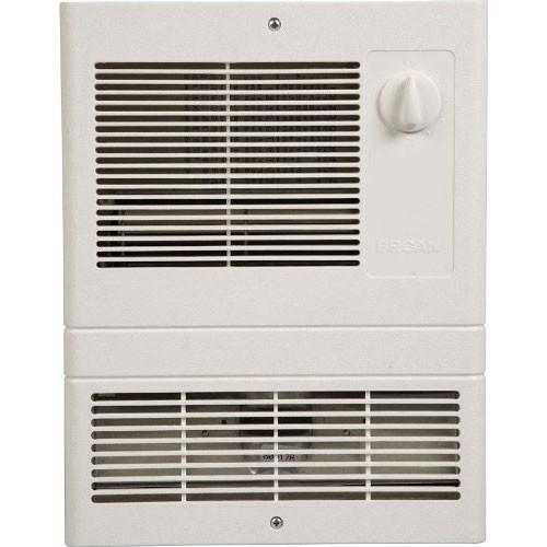 Broan 9815WH White High Capacity Rapid Warm Wall Heater with 1500 Watt Fan