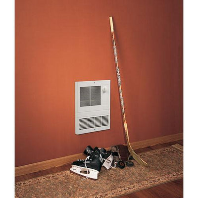 Broan 9810WH High Capacity Wall Heater with 1000 Watt Fan, White with Thermostat