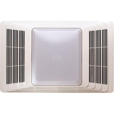 Broan 659 50 cfm quiet bathroom exhaust ventilation fan with heater an for Bathroom light heater and exhaust fan