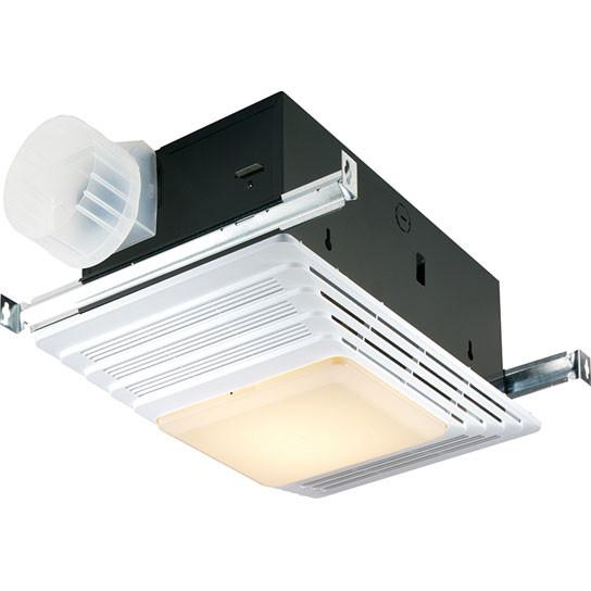 Broan 659 50 CFM Quiet Bathroom Exhaust Ventilation Fan with Heater and Light