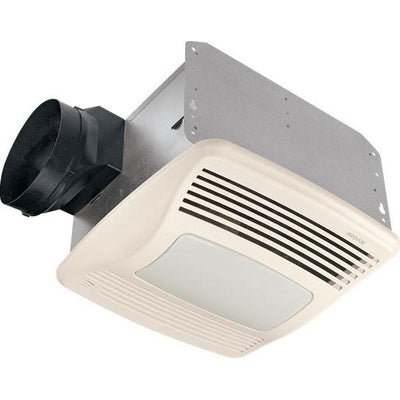 Broan QTXE110SFLT 110 CFM Ultra Silent Humidity Sensing Bath Vent Fan and Light