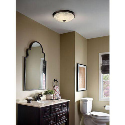 Nutone 772RBNT Oil Rubbed Bronze 80CFM Decorative Bathroom Vent Fan with Light