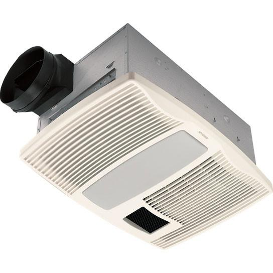 Broan QTX110HFLT Quiet Bathroom Ceiling Ventilation Fan With Light And  Heater