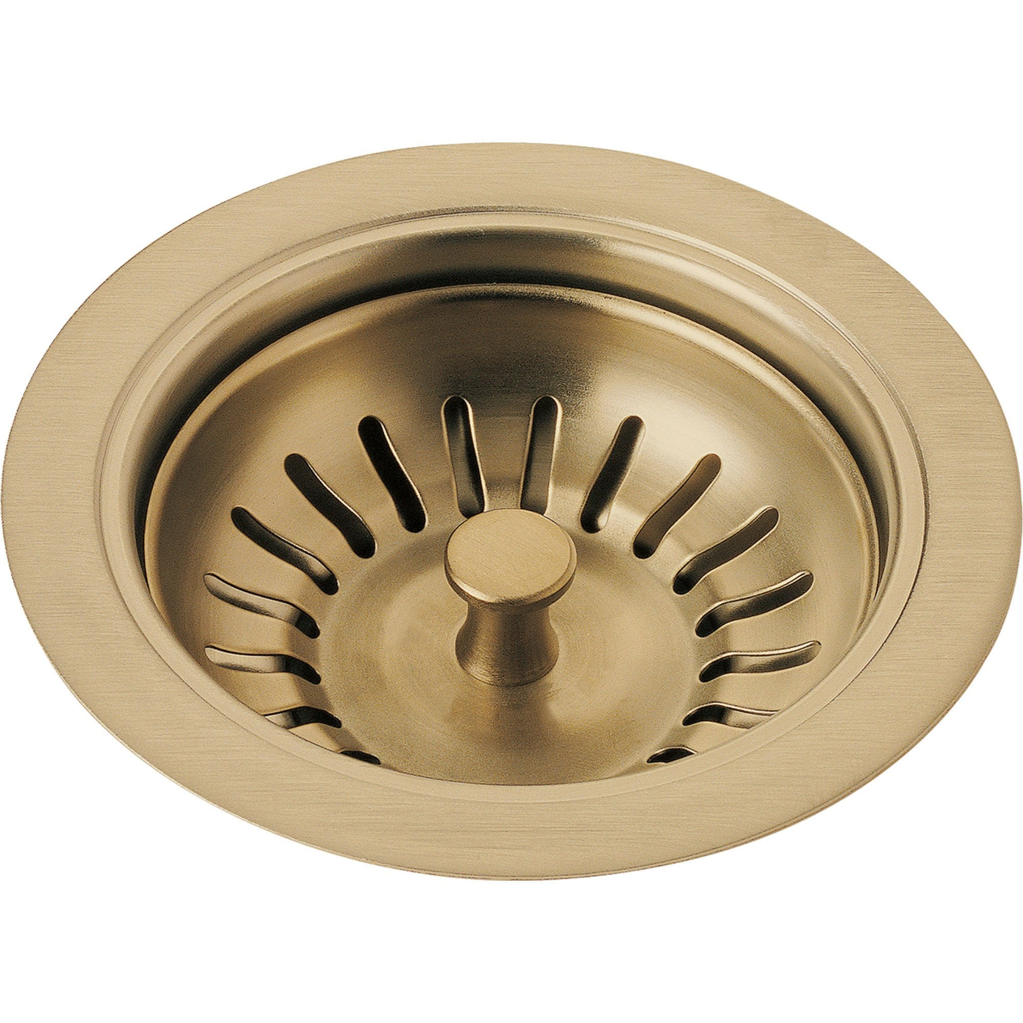 Delta 4-1/2 inch Champagne Bronze Kitchen Sink Flange and Strainer 638404