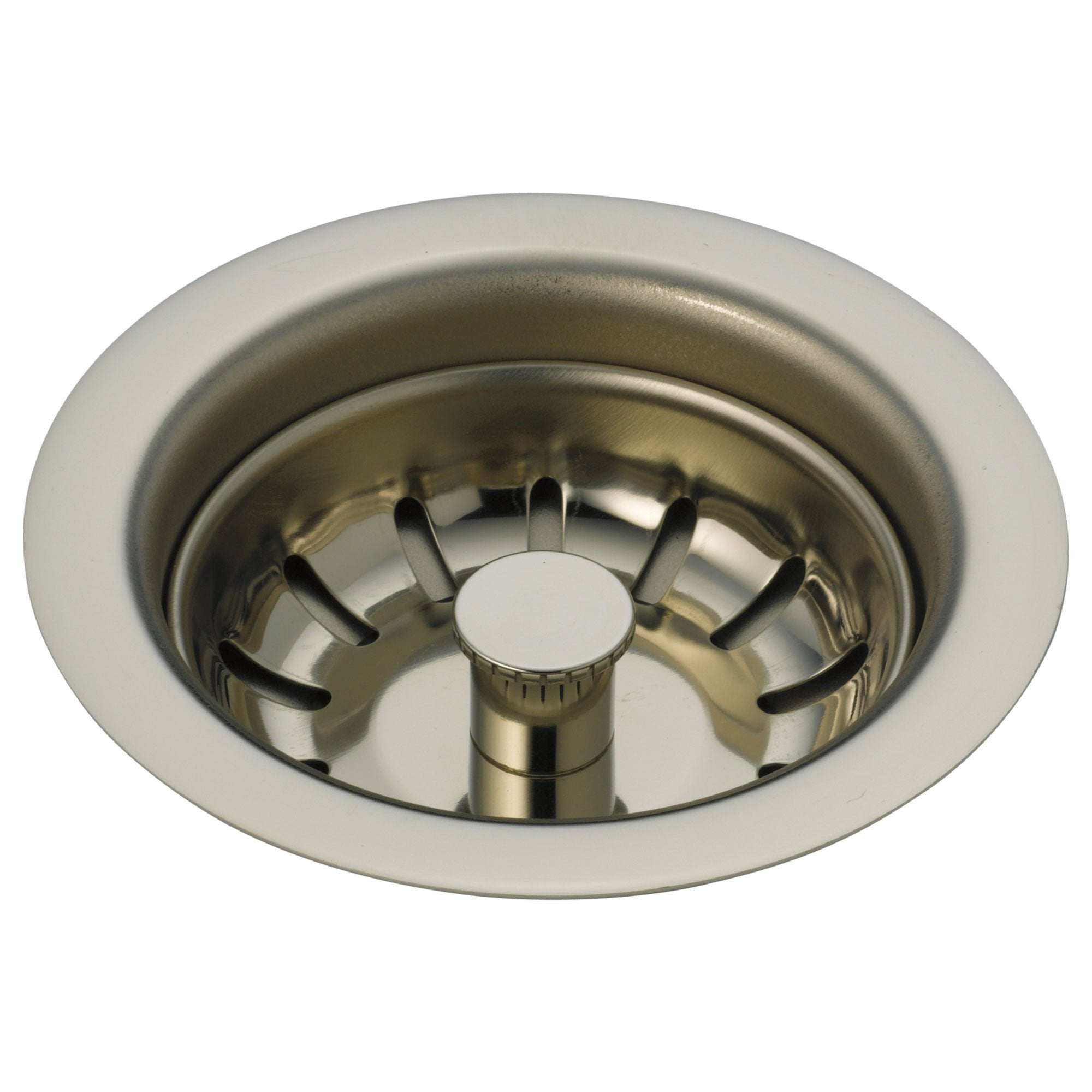 Delta Polished Nickel Finish Kitchen Sink Flange and Basket Strainer D72010PN