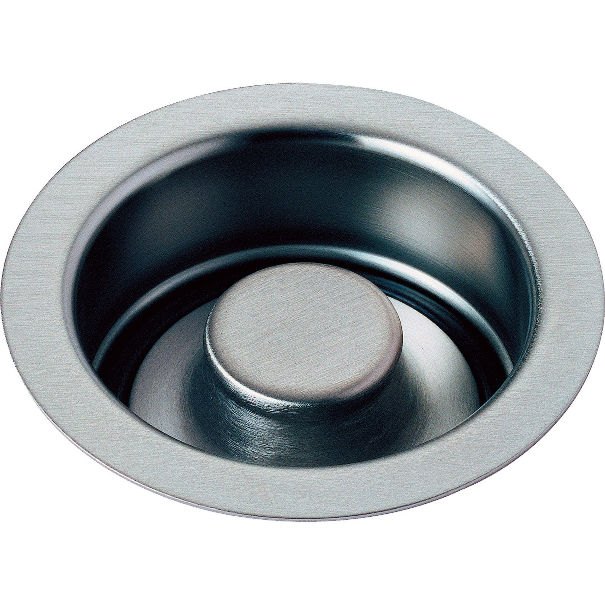 "Delta 4-1/2"" Arctic Stainless Kitchen Sink Disposal Flange and Stopper 638410"