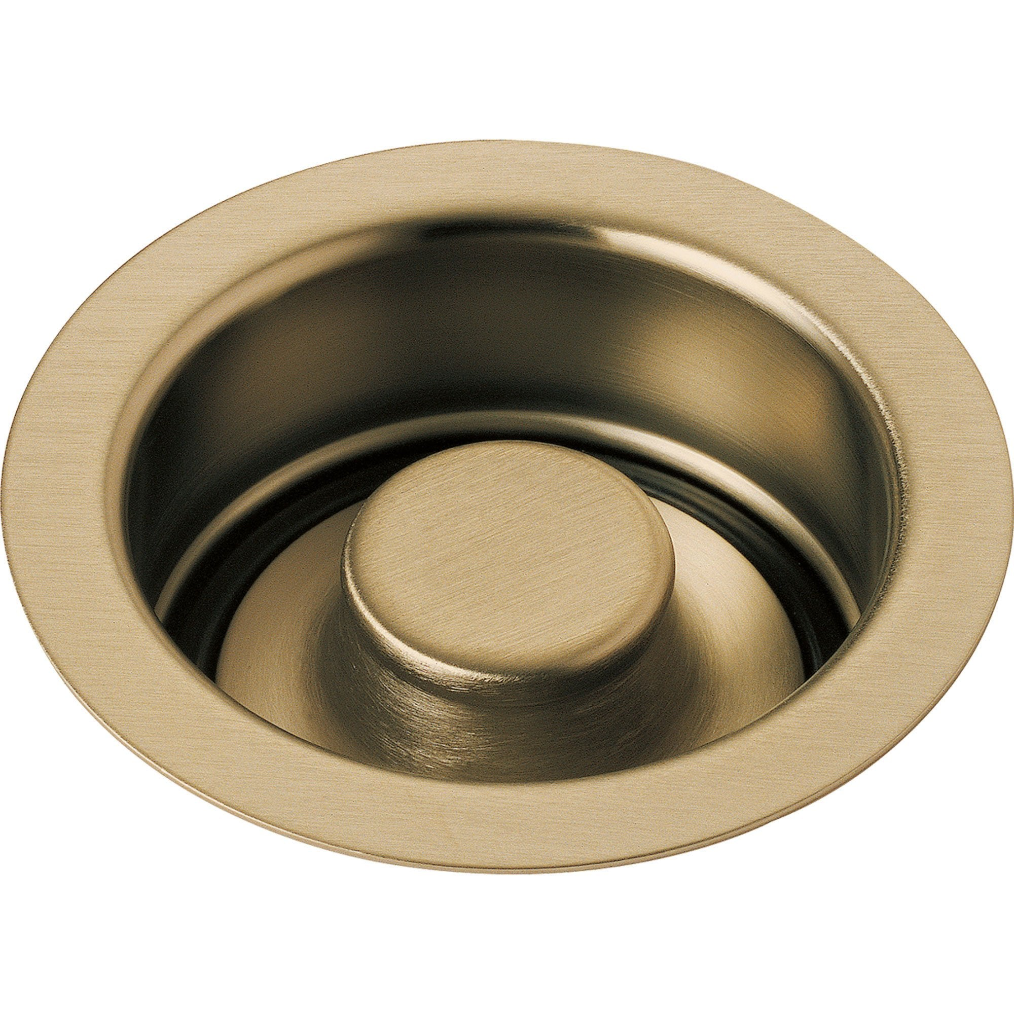 "Delta 4-1/2"" Champagne Bronze Kitchen Sink Disposal Flange and Stopper 638411"